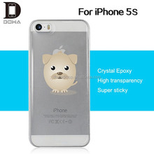 Transaparent gel epoxy mobile phone case for iphone 5s case