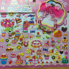 Stickers Custom 3d embellishments 2014 New Design Pvc Foam toy Sticker