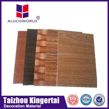 Alucoworld building construction material wooden finish aluminum plastic material