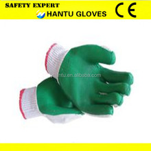 A red rubber palm working gloves/safety working gloves