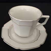 gold rim tea cup and saucer cheap white ceramic cup saucer set