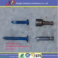Tapcon screw SS410 blue ruspert costing concrete scew hi lo thread screw