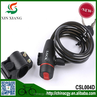 Steel Coil Cable Key Bike Lock With Lock Holder/Wire cable motorcycle lock CSL004D