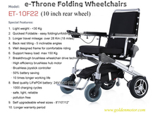 golden new design 8'' 10'' 12'' electric foldable wheelchair, mobility scooter for olderly, disabled and handicapped