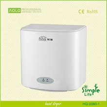 CE approved wall mounted automatic hand dryer, hot air hand drier