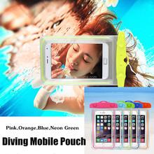 MOQ:10PCS!!! Waterproof Mobile Bag Diving Bag~PVC Underwater Bag for Swimming ,Diving~Glowing in the Night