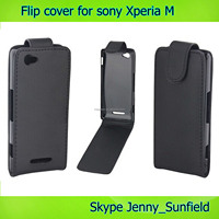 phone case leather flip cover for sony xperia M