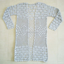 Ladies Latest Fashion Crochet Long Blouse
