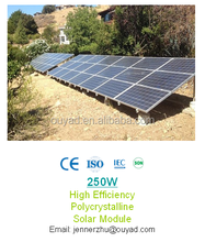 Good quality High efficiency Polycrystalline solar panel 250W with Grade A cell