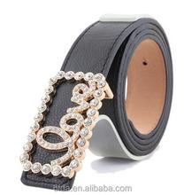 belts belt slim freeze belt woman belt black color with crystal