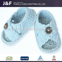Made in China kintted slipper like very cute happy baby shoes