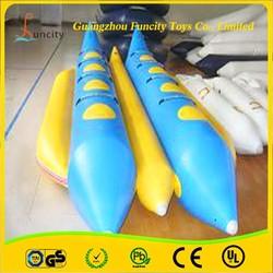 Amazing good price inflatable towable banana boat/flying fish toys/flying fish