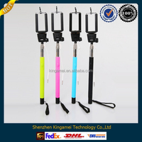 2014 new z07-5 plus ,Self Portrait Selfie Handheld Stick Monopod, Wired Audio Cable Take Pole ,z07-5plus