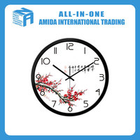 print logo promotional digital flower wall clock