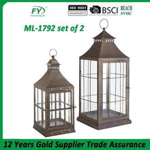 Excellent quality cheap elegant lantern for candle ML-1792 set of 2
