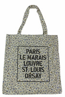 2015 Fashion Brand Flora Print Cotton Tote Bag