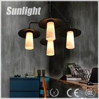 Zhongshan loft vintage pendant lights industrial pendant light for pub/ canteen/hotel/home designer europe candle chandelier