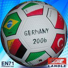 flag rubber football colorful soccer ball