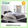 high quality bedroom set modern leather soft bed