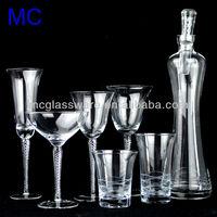handmade twisted stem wine glass