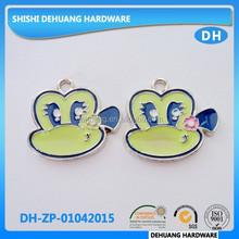 custom metal painting cartoo character decoration slider zipper puller for handbag