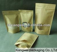delicate custom resealable header self-adhesive pe plastic bag for packing beverage powder