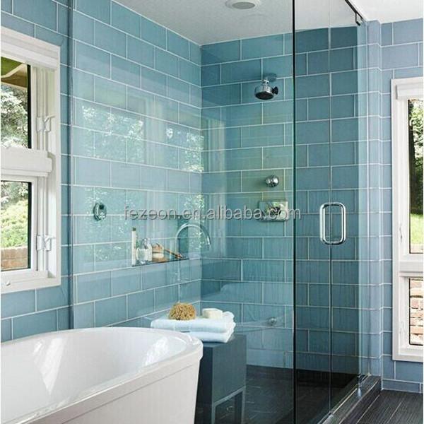 Wandtegels badkamer blauw - Mozaiek douche ...