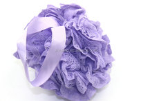 Wholesale Bath/Shower Body Exfoliate shower puff Sponge Mesh Net Ball Random Color