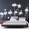 ZOOYOO lotus flower water lily home decors self adhesive vinyl wallpapers beautiful free brand stickers (8390)