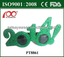 2014 New Year Fashion Plastic Party Sunglasses/ New Year Funny Party glasses with eyes for Chrismas/Meet CE FDA and ISO9001:2008