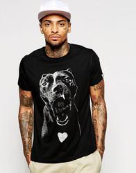 men's short sleeve t-shirt with dog print