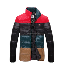 Latest jacket design for men fashion winter coat with polyster shell and duck feather paddded