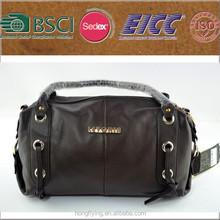 Manufacture custom black leather female handbag