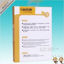 cardboard hanging display packaging,kraft paper packaging box for ipad case with pvc/clear lid