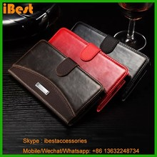 iBest 2015 leather wallet Case for galaxy note 4 pu leather flip case for samsung galaxy note 4