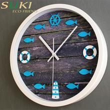 Wholesale antique clock wooden clock round wall decorative clock
