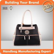 3511-Ethnic style new nylon tote bags 2015 ladies fashion designer handbags With PU Handles