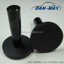 Super Magnetic Color Black Rubber Coated Holding Magnets