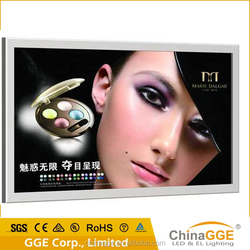 Newest design wall mounted LED picture photo light box aluminum LED frame