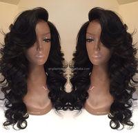 Top Fashion 100% human hair curly malaysian human hair full lace wig