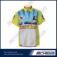 sublimation wholesale racing motorcycle shirts custom Motor Wear with any logo