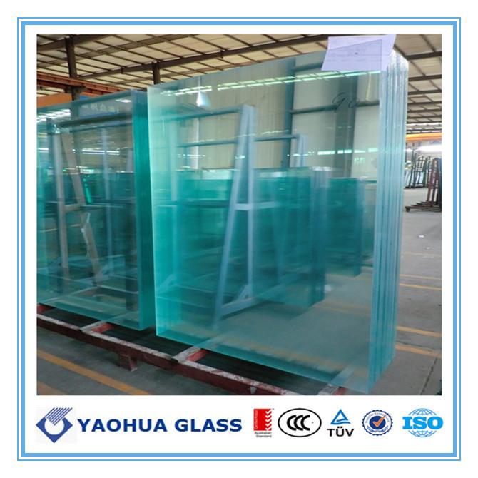 4mm toughened ulra clear glass 1
