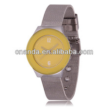 Alloy Wristband Geneva New Stylish Quartz Lovers Watch