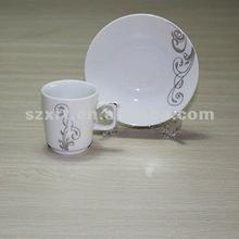 straight beaded ceramic coffee set
