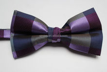 High quality promotional female flashing polyester satin bow tie