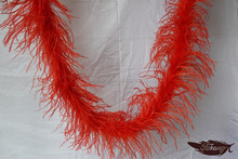 2 Plies Fashional Red Ostrich Feather Boas