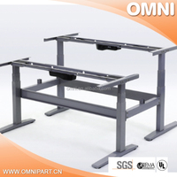 Double sides Two Feet Electronic Adjustable Desk
