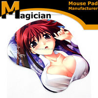 best selling 3d Japan cartoon girl sexy nude breast mose pad