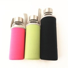 Pink/green/blue/black neoprene water bottle sleeve for water bottle 280/360/550ml
