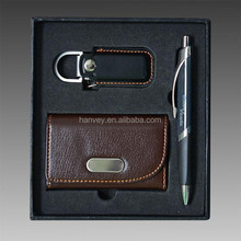 promotion gift set / business card holder and pen gift set for promotion activity